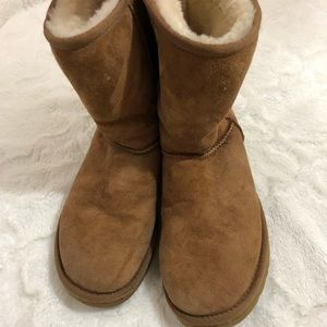 UGG Eva Boots Brown Leather Size 7
